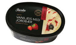 Jacobs Utvalgte ekte vaniljeis med jordbær