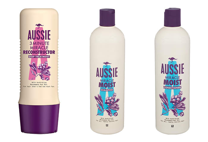 Hårpleieproduktene fra Aussie kommer fra solfylte Australia, og er laget for å ta ekstra godt vare på håret i sterk sol. Disse produktene finner du hos KIWI.