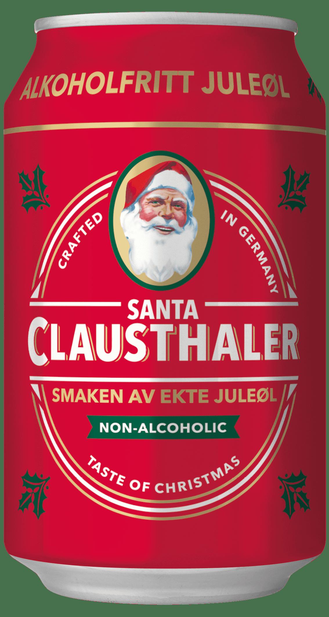 Santa juleøl fra Clausthaler