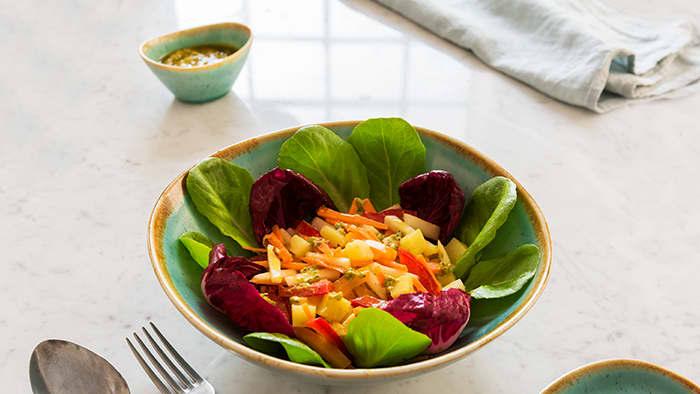 Salat med pesto. Foto: Barilla