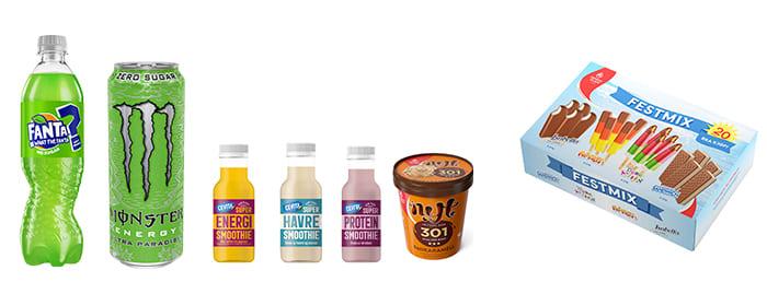 Fanta med hemmelig smak, sommerlig Monster, nye smoothies og litt sunnere is.