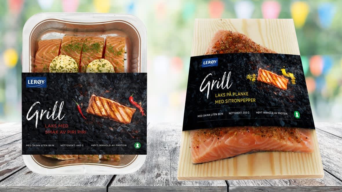 Lerøy-nyhetene Laks med smak av piri piri og Laks på planke med sitronpepper finner du i de fleste KIWI-butikker.