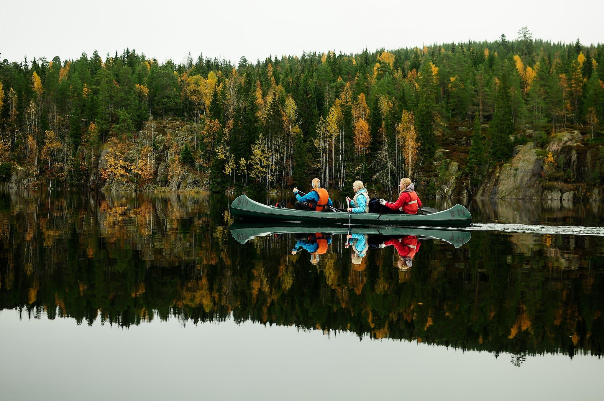 Kom deg ut til fots eller i kano. Foto: Sindre Thoresen Lønnes/DNT
