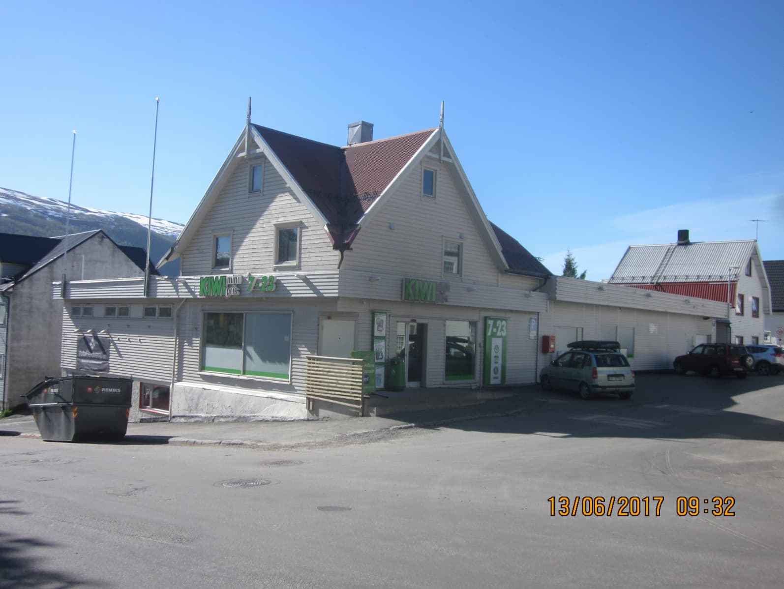 KIWI-butikken i Balsfjordgata før oppussingen sommeren 2018.