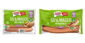 Gilde Go' & Mager grillpølser og wienerpølser.