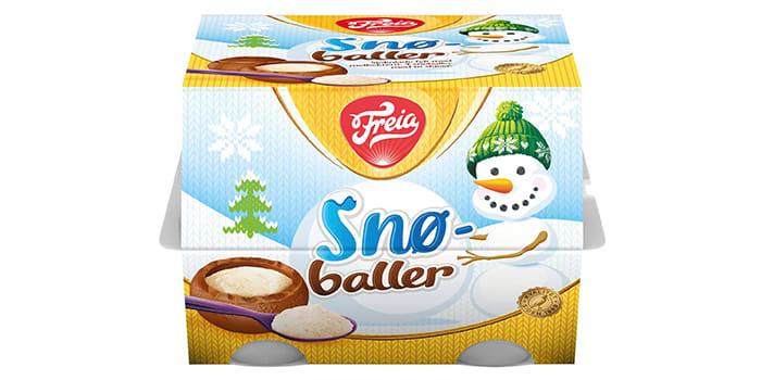 Snøballer: Er du glad i de melkekremfylte påskeeggene fra Freia, vil du garantert elske denne nyheten. Denne vinteren kan du nemlig kose deg med snøballer, som i likhet med påskeeggene består av deilig melkesjokolade fylt med melkekrem.