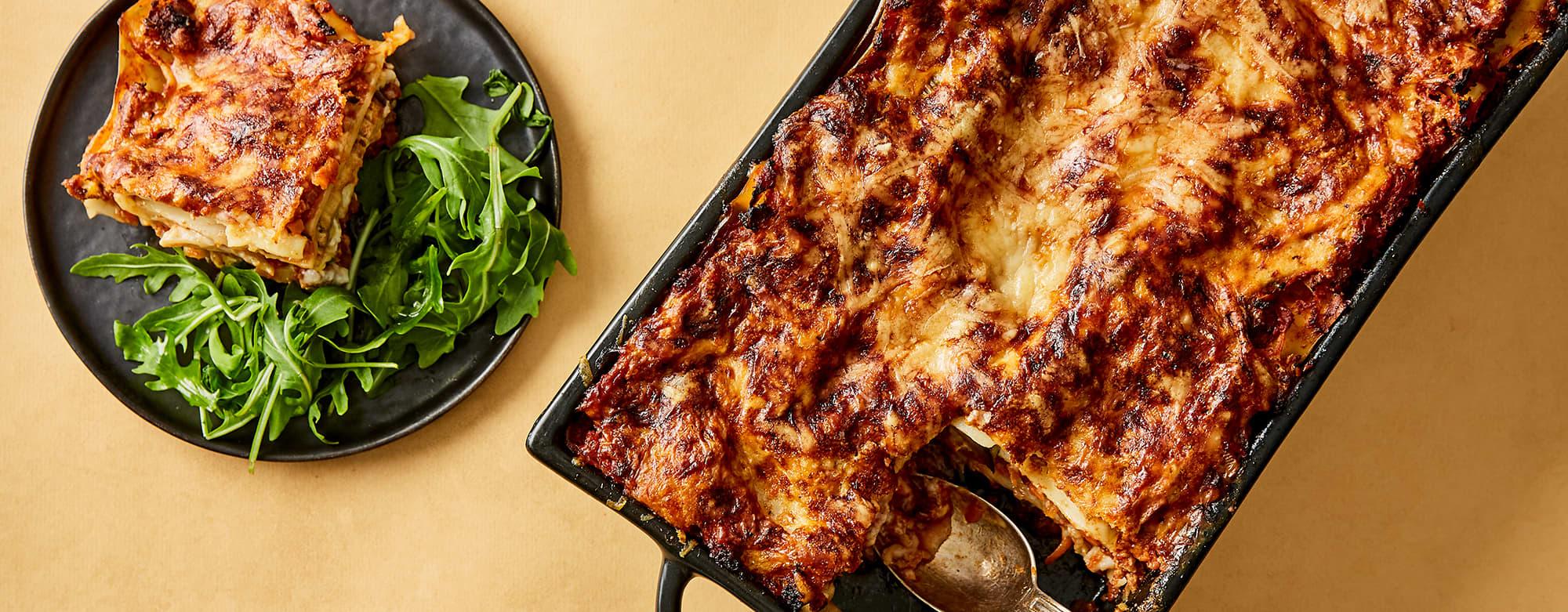 Lasagne med grønnsaker