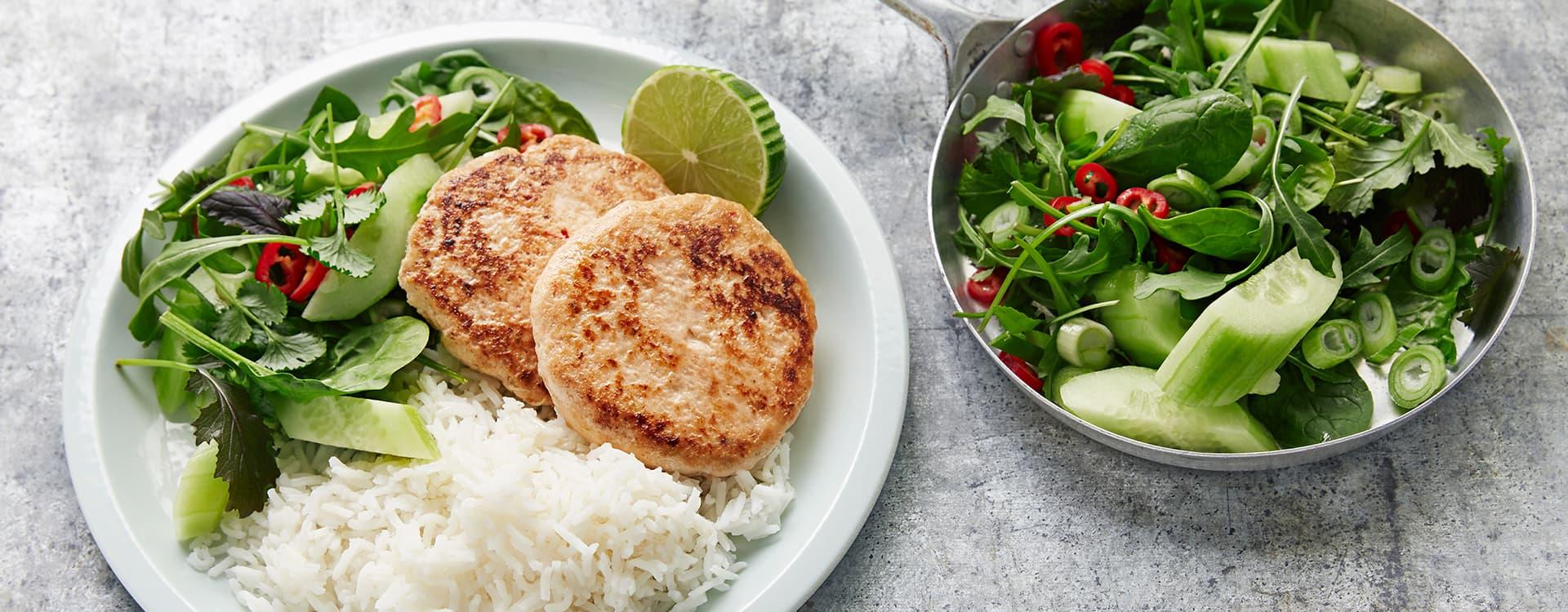 Fiskekaker med asiatiske smaker - friskt og godt!