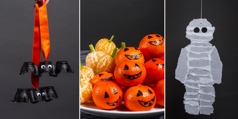 PYNT: Både spiselig og uspiselig pynt til Halloween kan du enkelt lage selv.