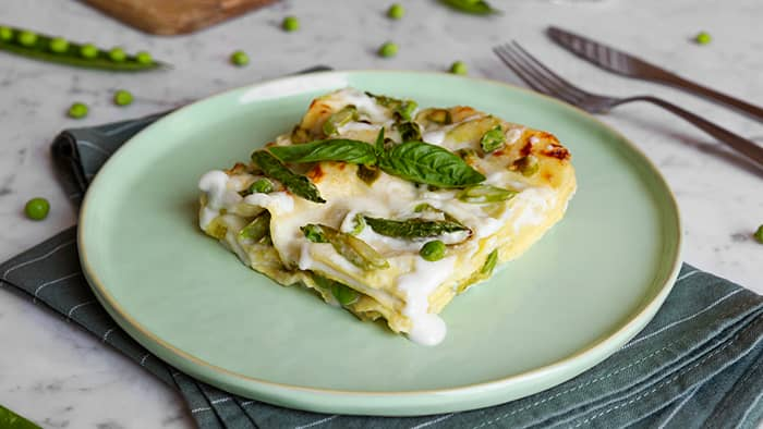 Lasagne med pesto. Foto:Barilla