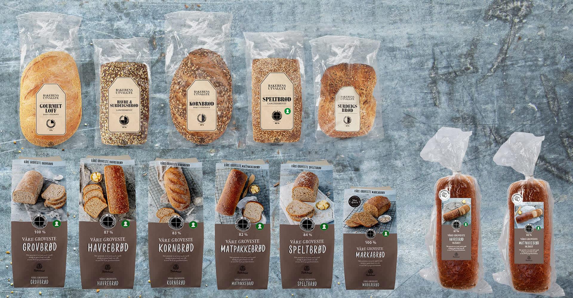 Bakerens utvalgte og Våre groveste brød er nyheter i alle KIWIs butikker. Våre groveste Matpakkebrød og Havrebrød kommer også ferdig skåret.