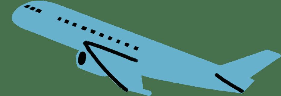 Illustrasjon av grått fly