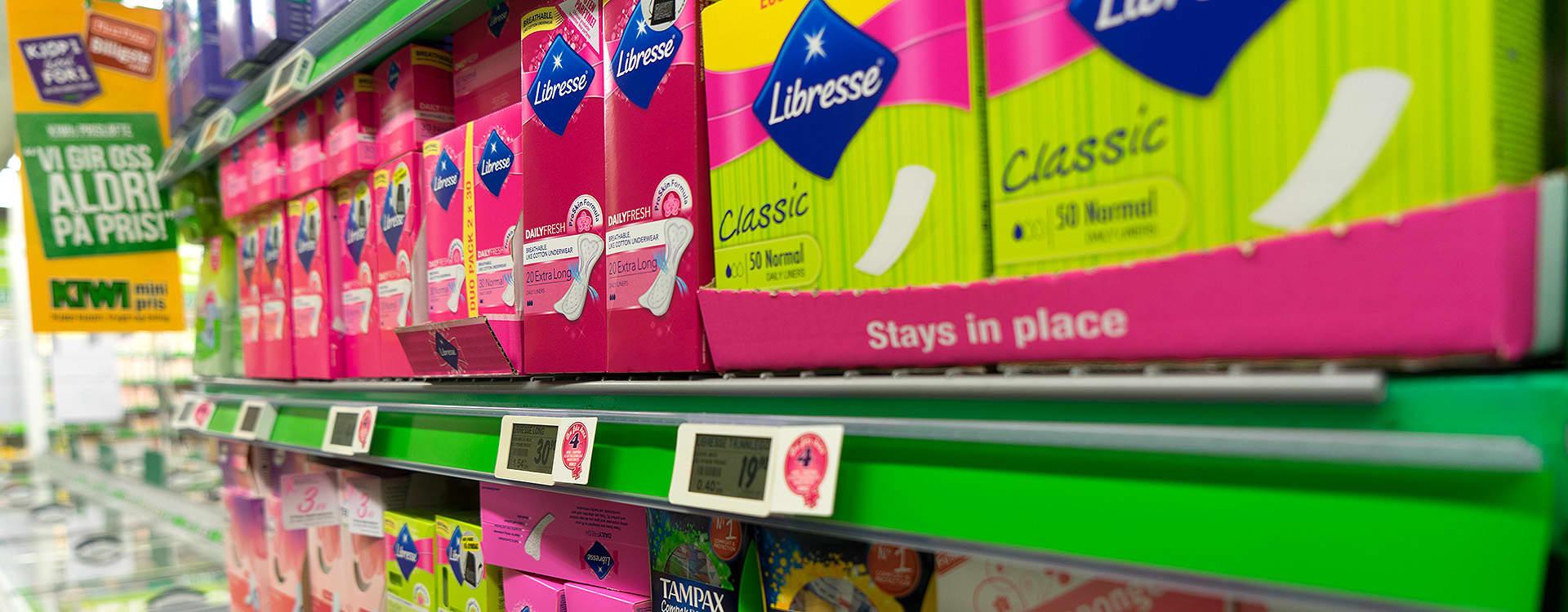 Libresse er med i KIWIs B&T-avtale, der du får hver 4. pakke bind, tamponger eller truseinnlegg gratis.