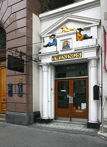 Twinings tebutikk på The Strand i London er byen eldste tehus