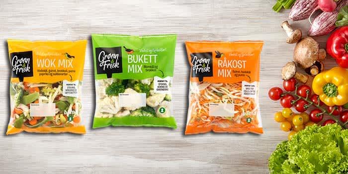 Ferdigkuttede grønnsaksblandinger fra Grønn & Frisk gjør det enda lettere å spise mer grønnsaker i hverdagen.