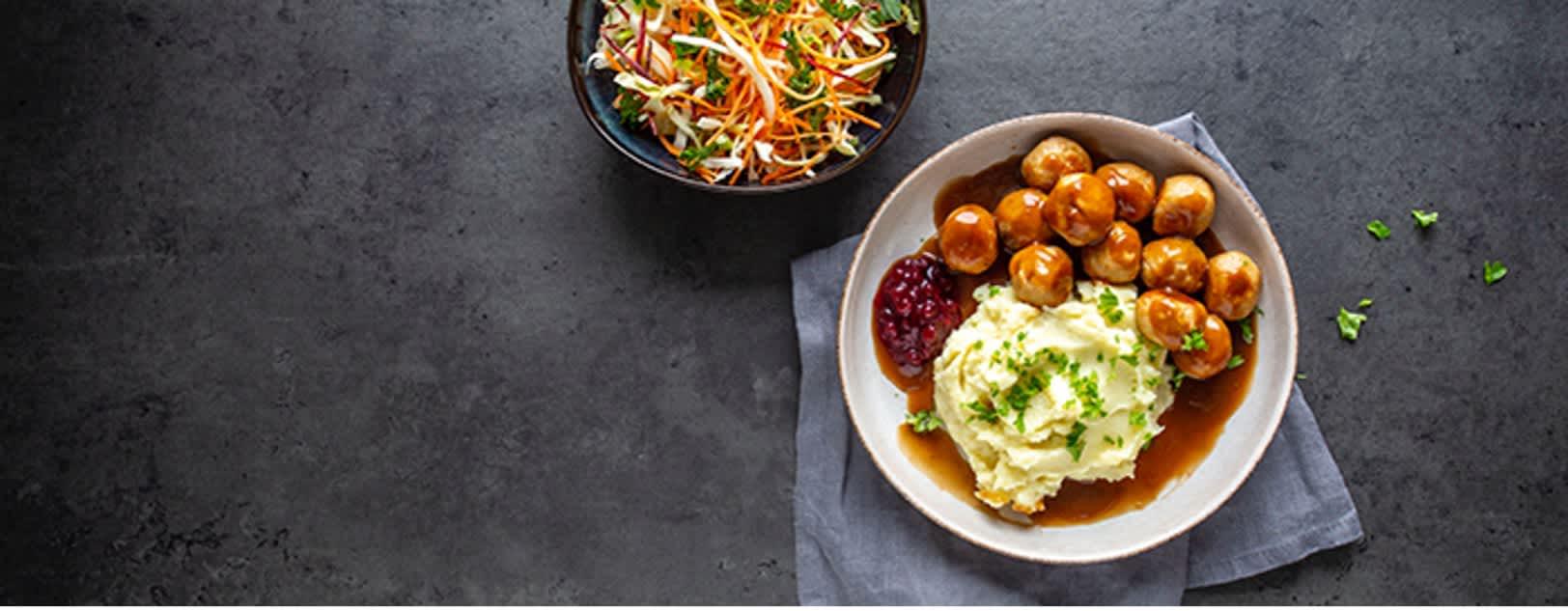 Tradisjonsmat gjort litt sunnere med kyllingkjøttboller fra Prior