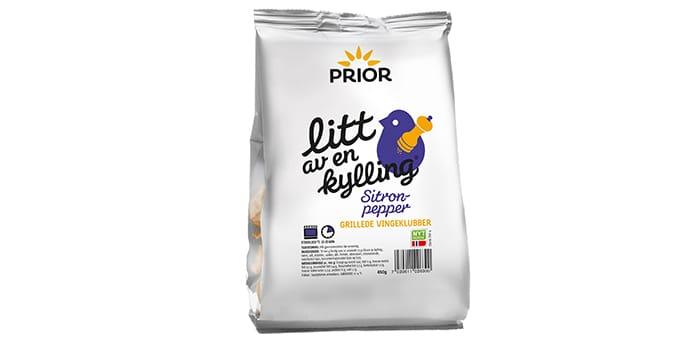 Litt av en kylling med sitronpepper: Kyllingklubbene fra Prior kan også kjøpes med sitronpepper.