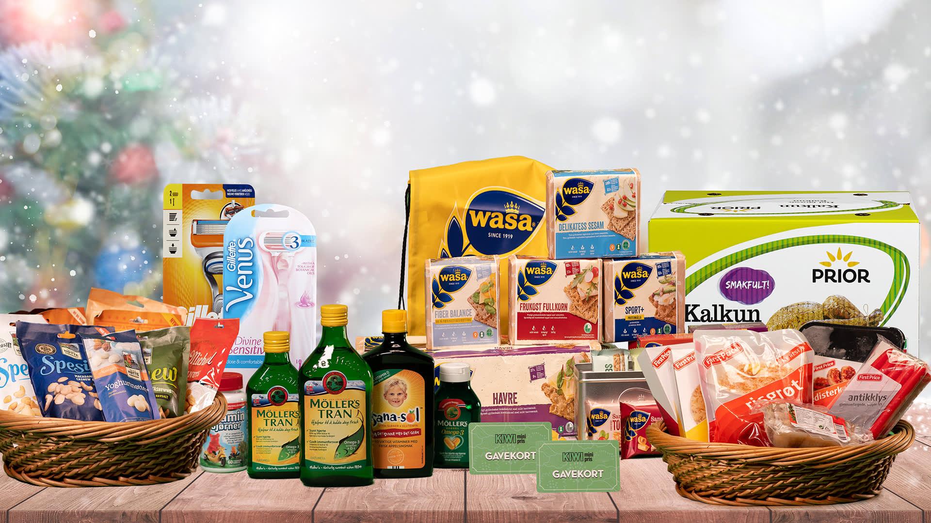 Gillette, Venus, Den lille nøttefabrikken, KIWI, Wasa, Möller's, Collett, Prior, First Price, Fjordland