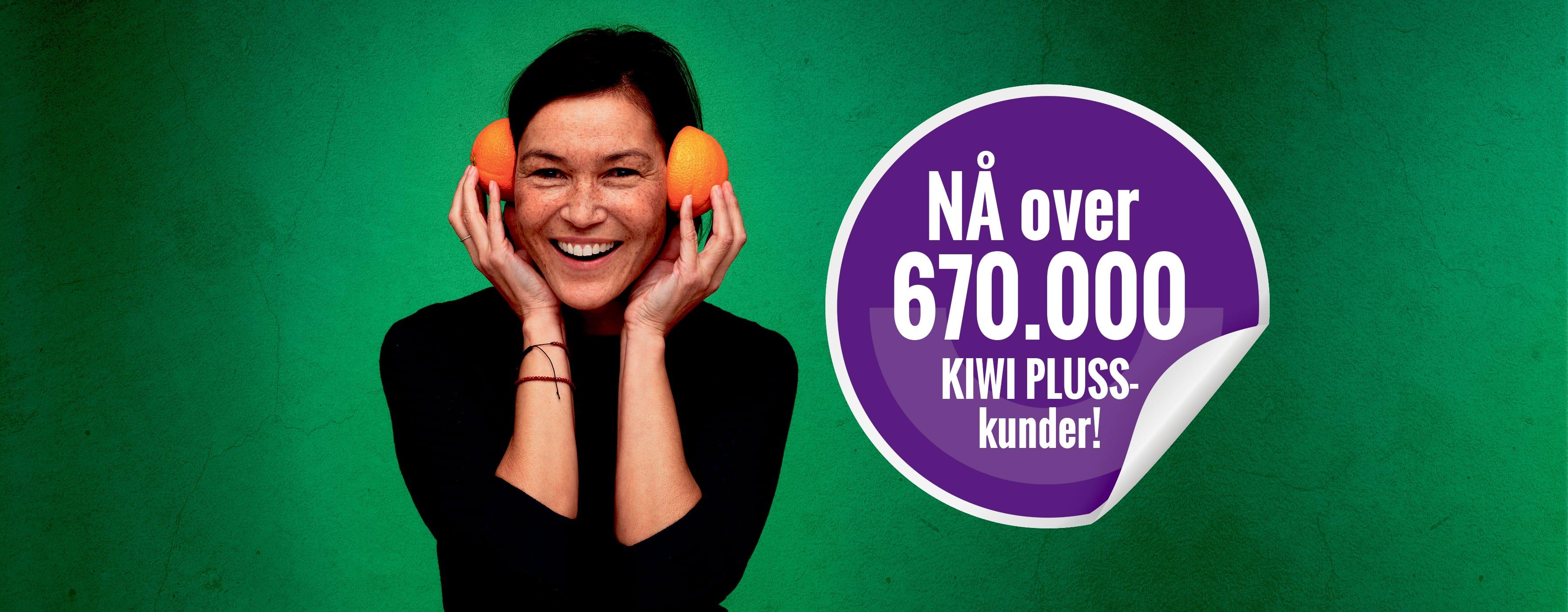 Etter bare ett år er allerede over 670.000 nordmenn KIWI PLUSS-kunder. De både spiser sunnere og handler billigere.