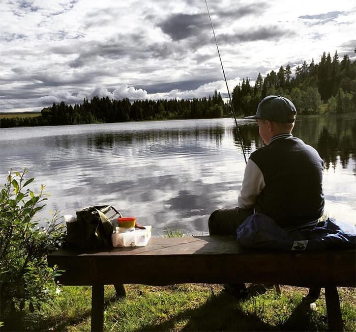 Fisking i Valdres. FOTO: @ksvenoy