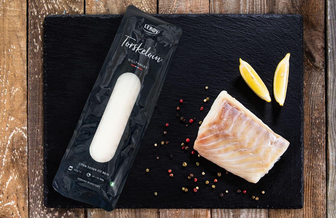Fersk torskeloin fra Lerøy finnes i utvalgte KIWI-butikker.