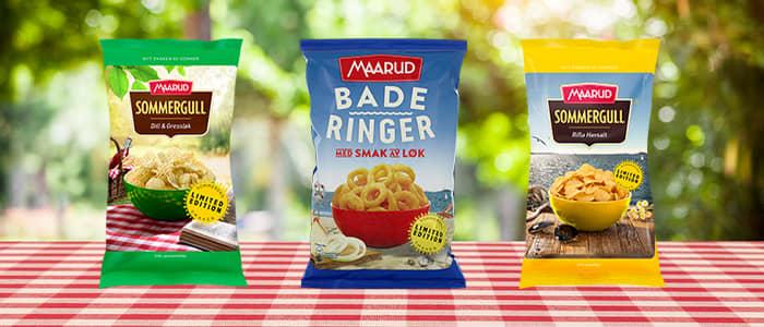 Sommerens potetgull fra Maarud finner du i utvalgte KIWI-butikker.