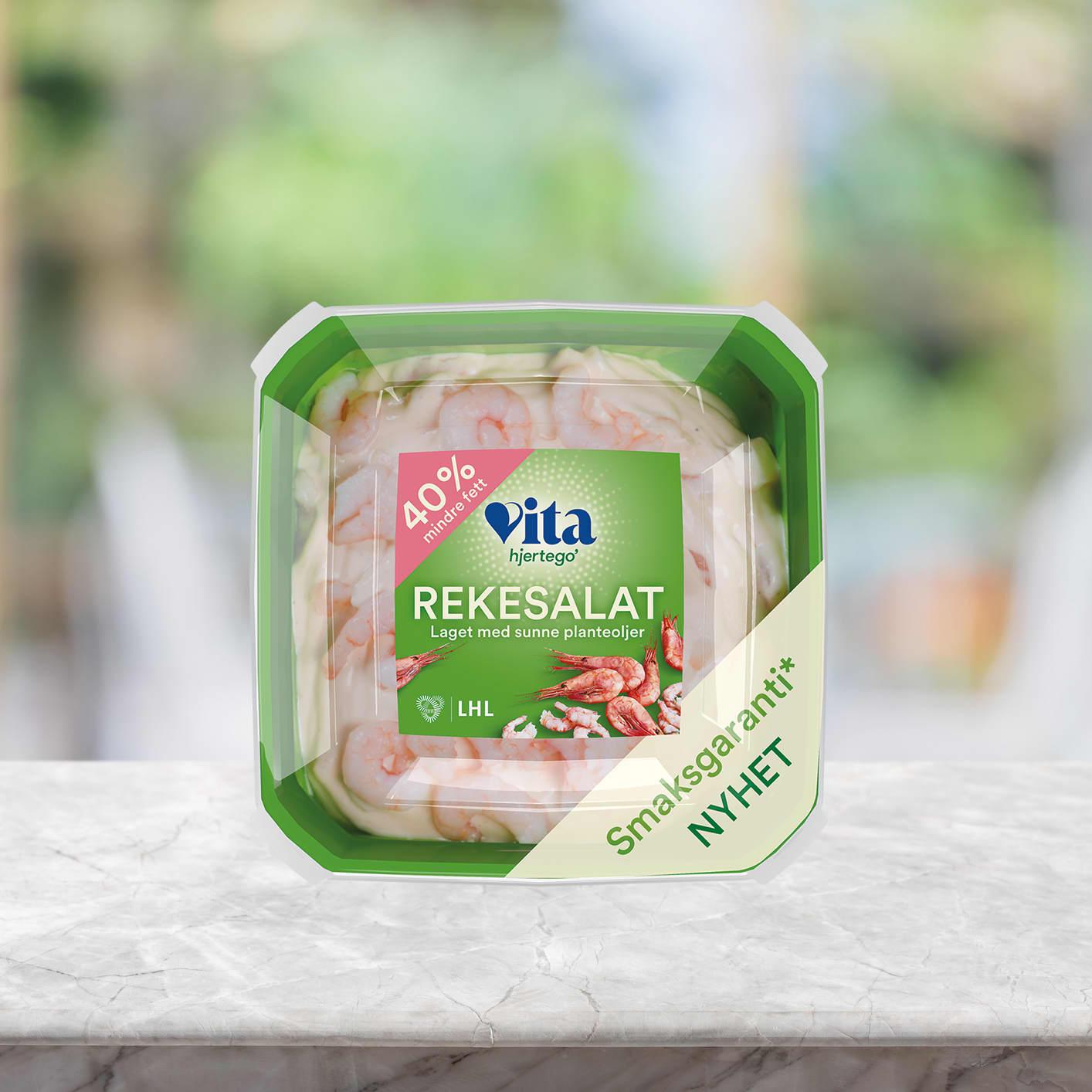 Rekesalat fra Vita hjertego' er et sunt og godt tilbehør til sommerens grillpølser!