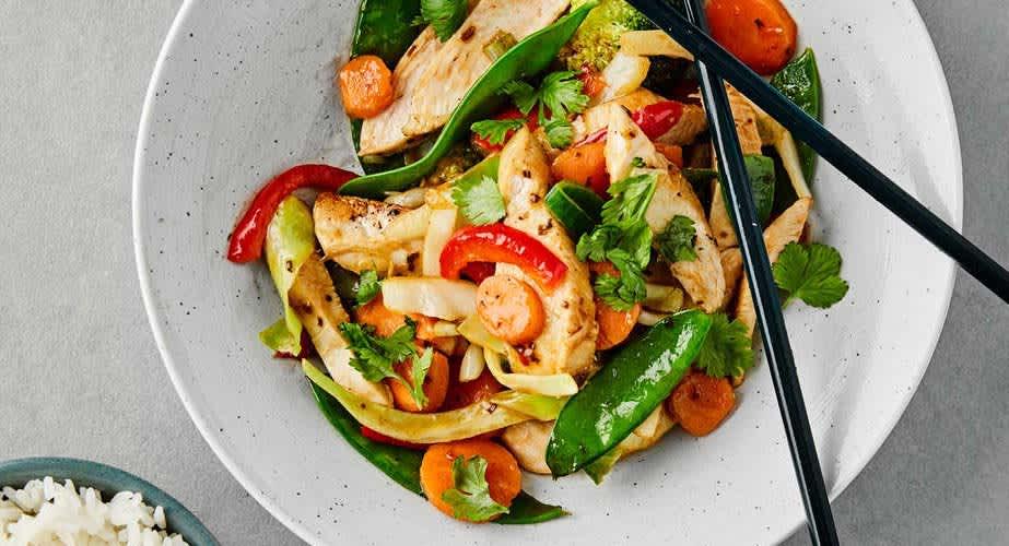 Rask kylling wok middag