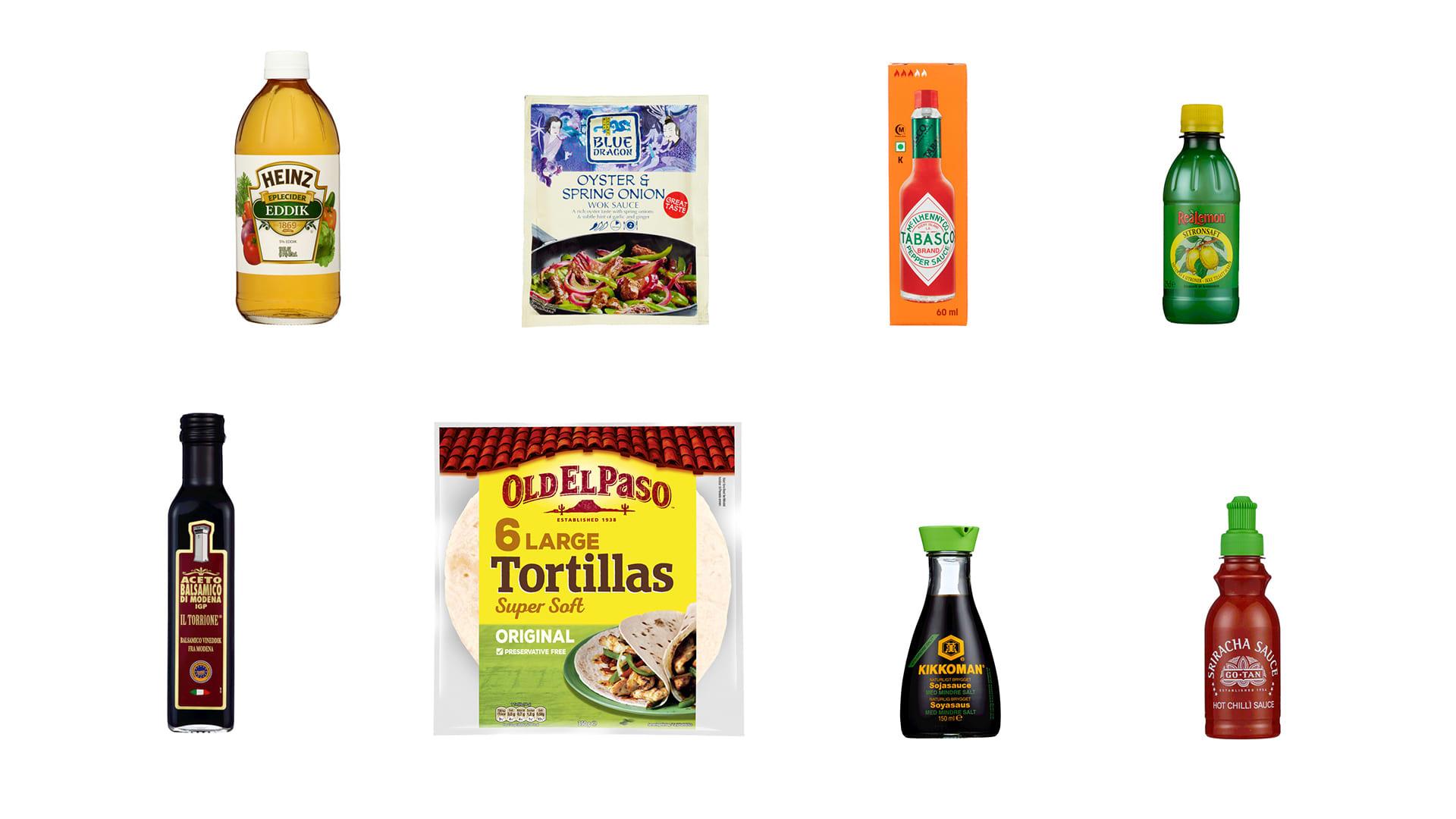 Samlebilde av produkter