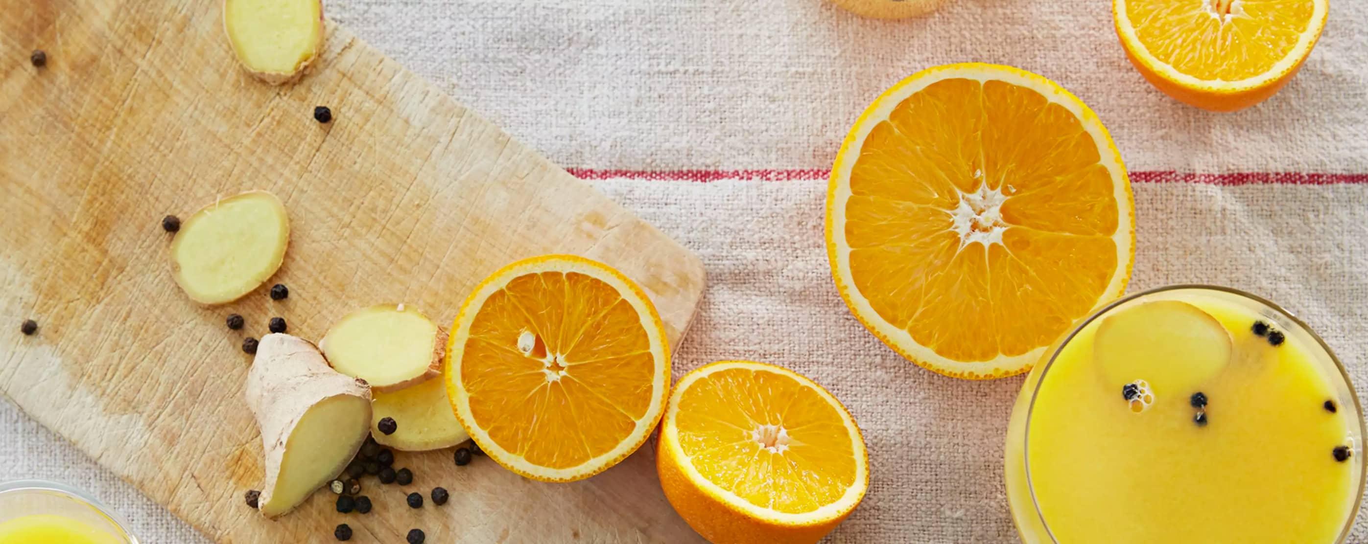 Det er ikke bare til jul at varm appelsindrikk med ingefær kan smake godt.