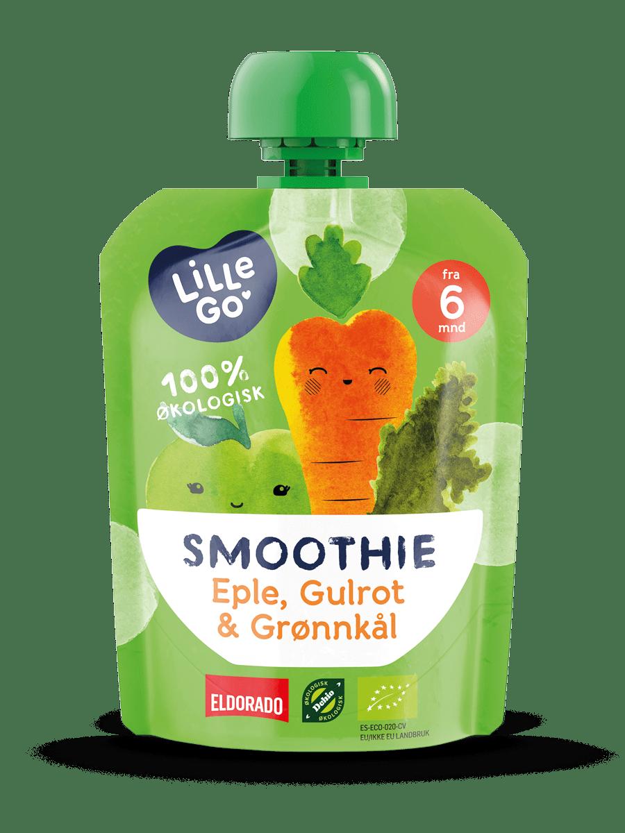 LilleGo´ Smoothie, eple, gulrot og grønnkål 90 g Fra 6 mnd