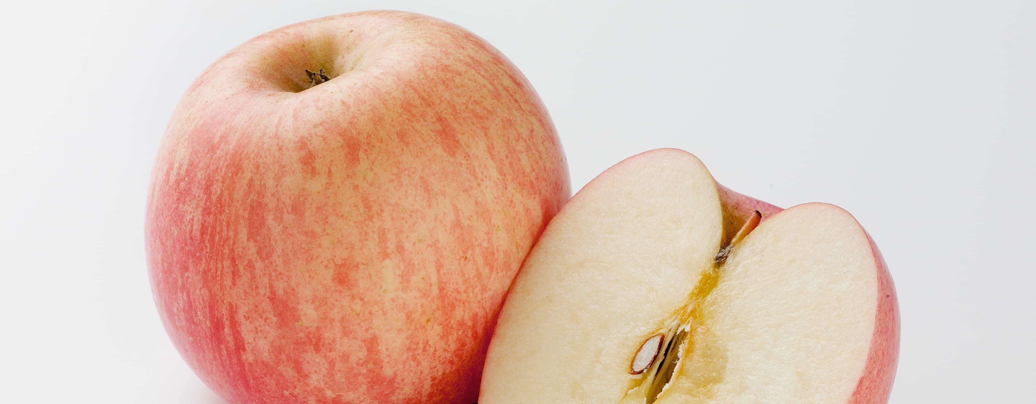 Spis eplene med skallet på