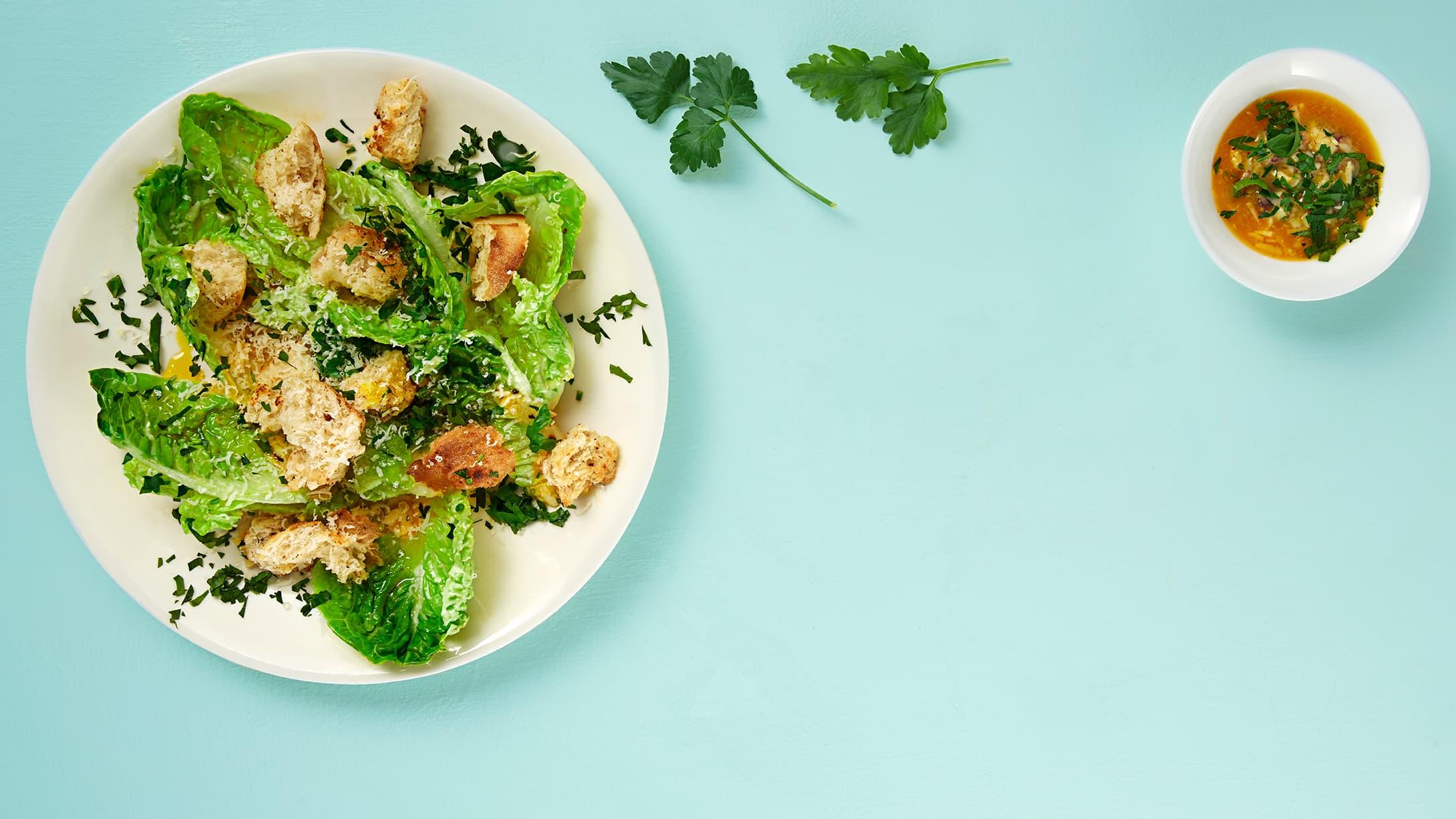 Cæsar-salat er godt, men hva gjør vi med dressing?