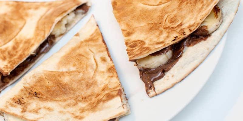 Dessert av restebrød etter tacomiddagen. FOTO: Vegetarbloggen