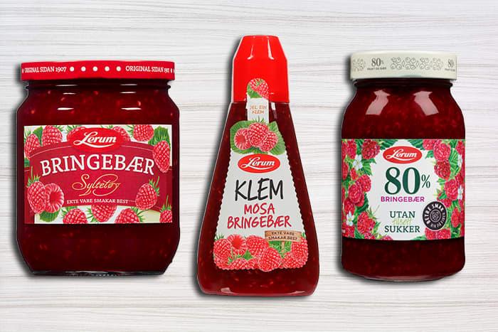 Både Lerum originalsyltøy og Klemserien inneholder nå mindre sukker enn tidligere. I tillegg finnes Lerum 80%-serien som er uten tilsatt sukker.