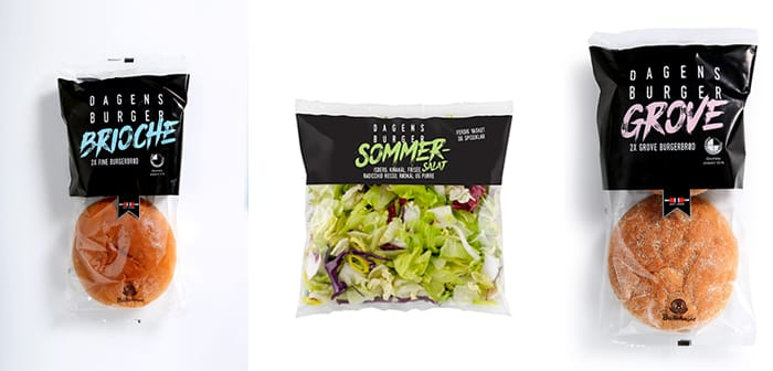 Fullfør burgeren med enten Brioche eller grove burgerbrød, og ikke glem ferdigkuttet salat.