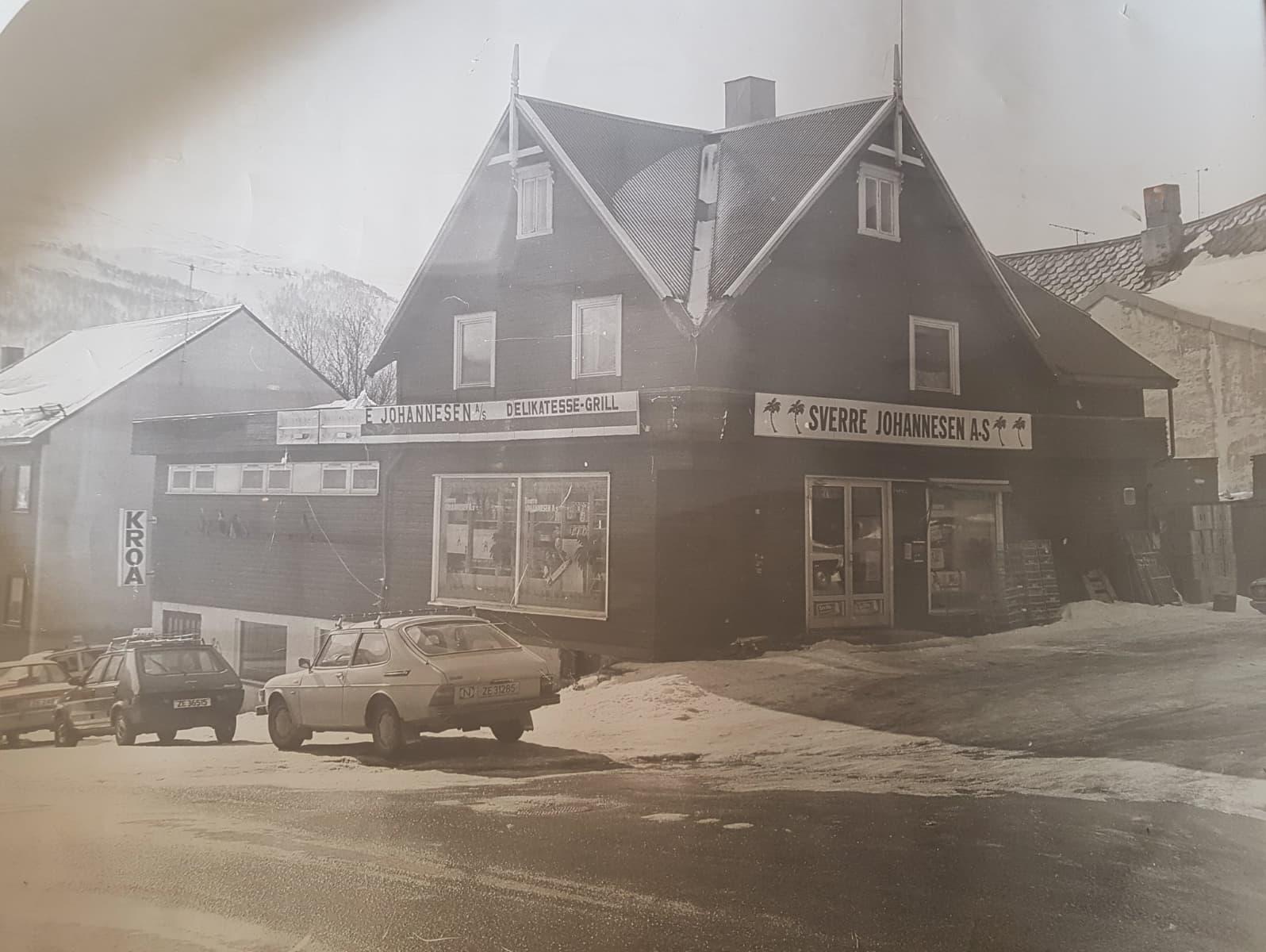 Butikken i Balsfjordgata, slik den så ut da Sverre Johannesen drev butikken.