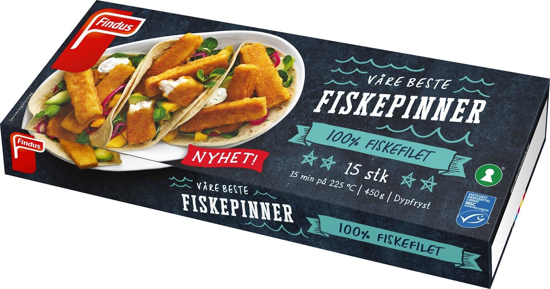Findus' nye «Våre beste fiskepinner».