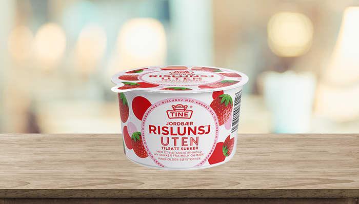 Tine Rislunsj Uten er en dessert uten tilsatt sukker. Den selges kun i NorgesGruppens dagligvarekjeder, deriblant alle av KIWIs butikker.