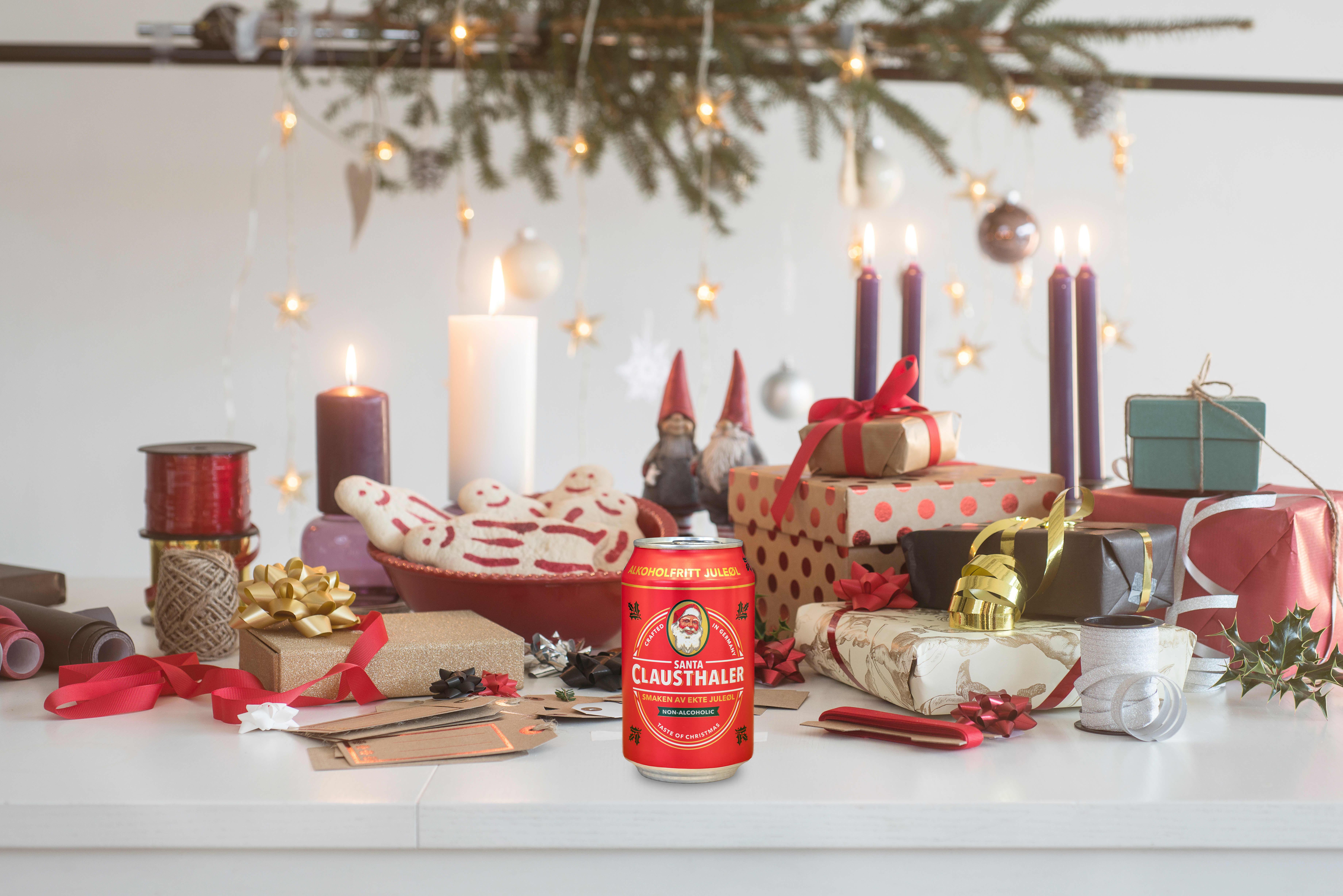 Santa Clausthaler juleøl kommer i nytt design denne julen.