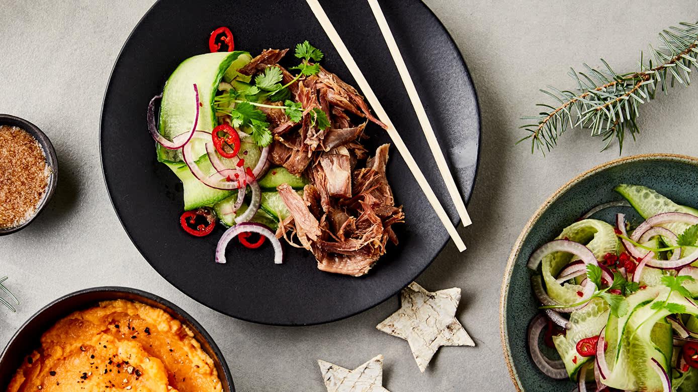 Her kan du kombinere norsk tradisjonsmat med asiatiske smaker.