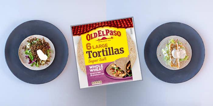 Taco-lompene som blir til overs, kan godt fylles med fisk eller linser dagen derpå? Det er også mulig å bruke tortillas som en tynn pizzabunn for en kjapp og billig middag.