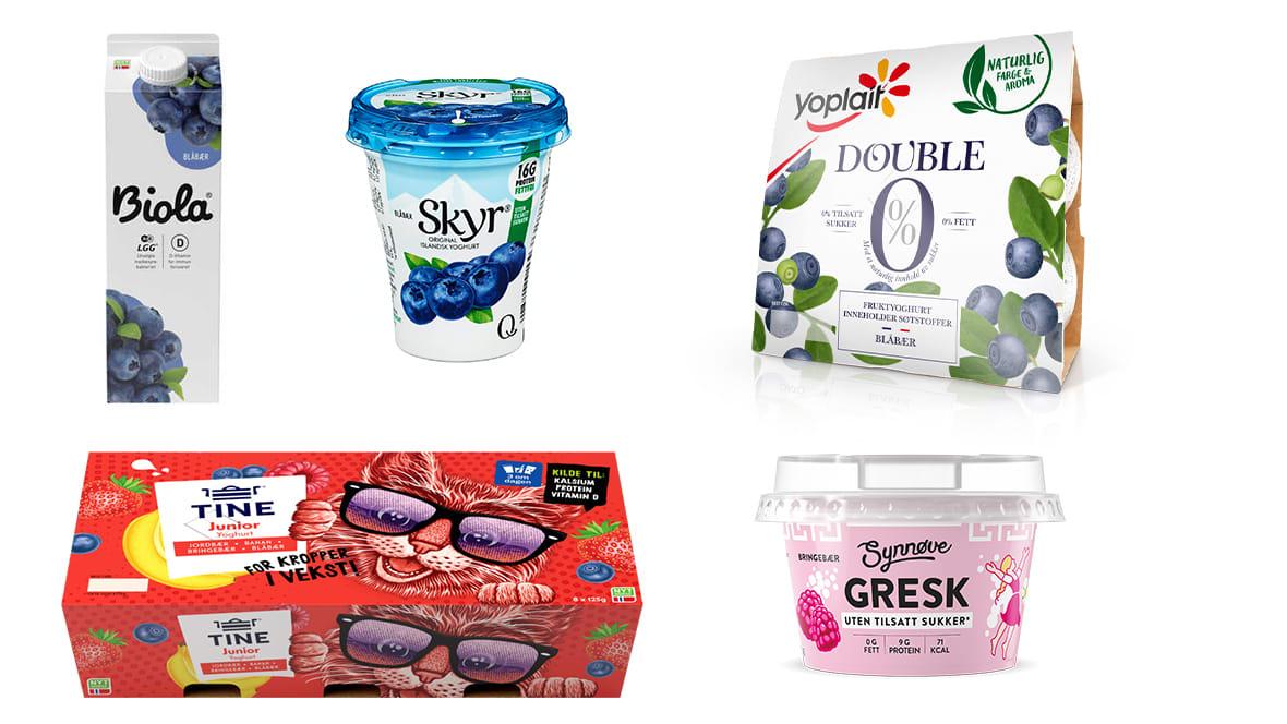 La minst to av tre porsjoner være melk, syrnet melk eller yoghurt.