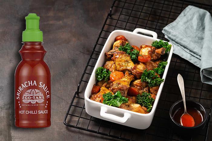 Go Tan Sriracha kan brukes i alt fra dip og dressing, til marinader, supper, sauser og gryter.