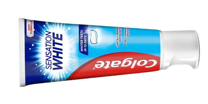 COLGATE TANNKREM SENSATION WHITE.