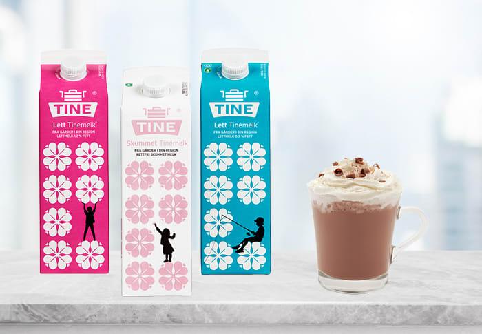 Både Tine skummetmelk og Tine lettmelk kvalifiserer som fettfrie, ettersom de kun inneholder 0,1 og 0,5 prosent fett.