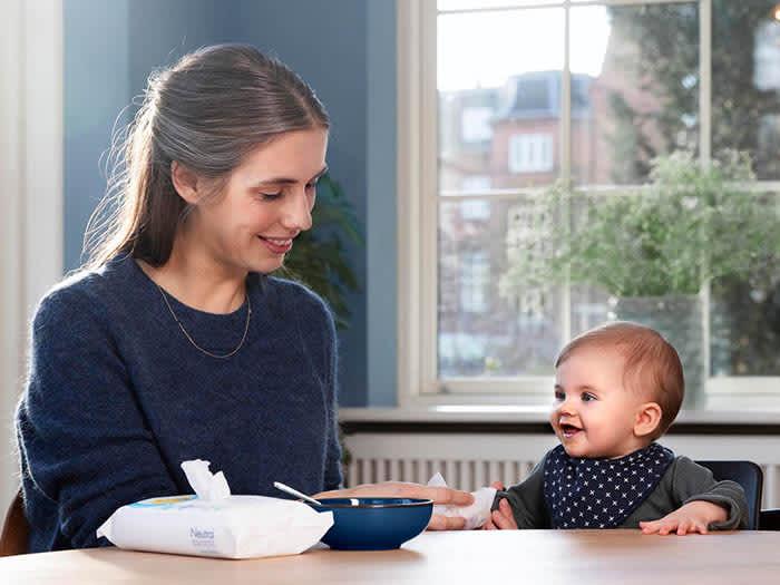Neutral Baby Wipes er blant våtserviettene som er ekstra milde mot huden, og passer godt både til ansiktsvask og bleieskift.