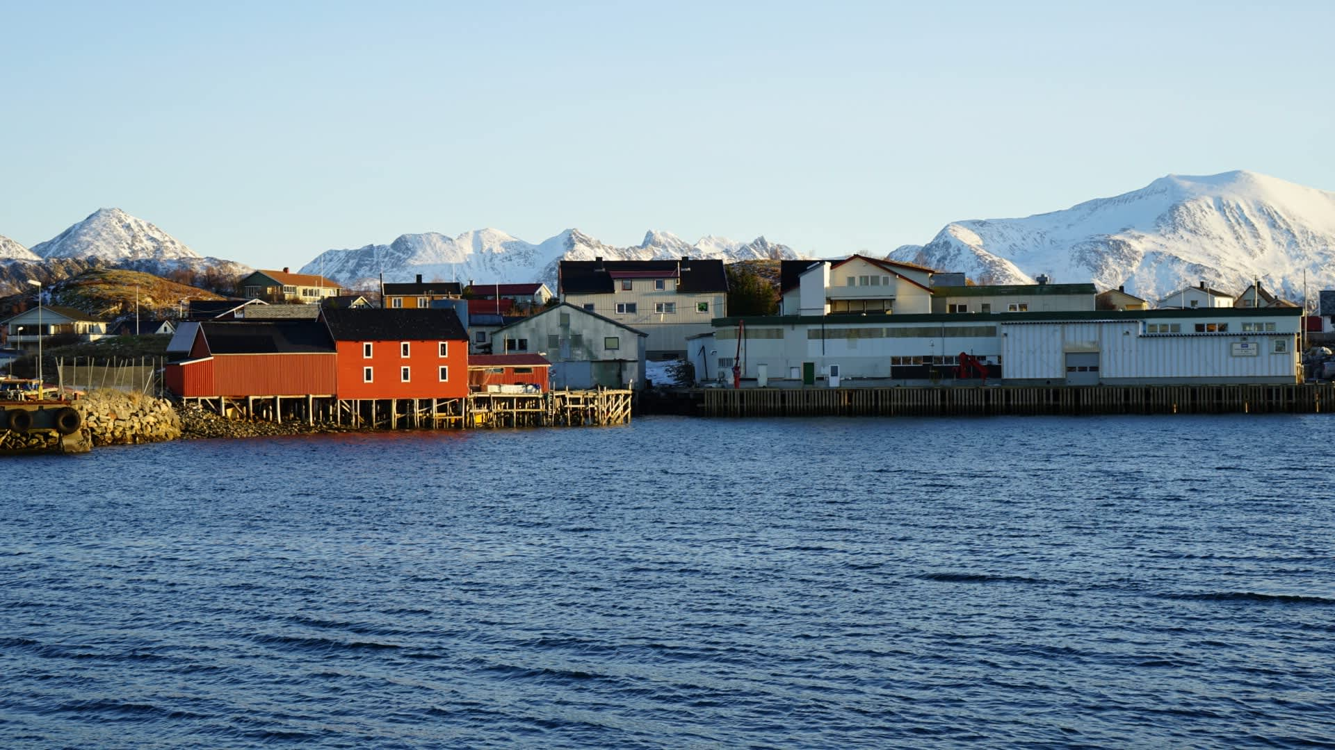 Utsikt mot Lerøys fiskemottak.