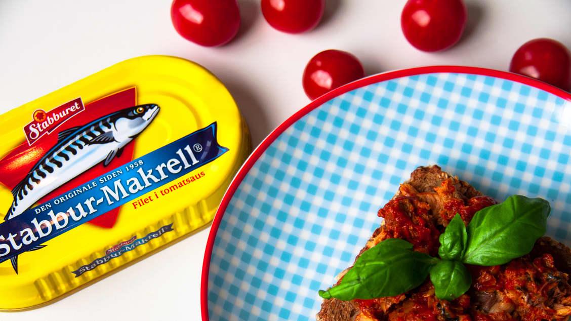 Makrell i tomat teller som et fiskemåltid - hvis du spiser det ofte nok.