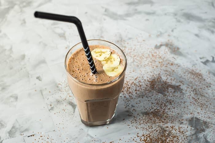 Choco Espresso-smoothie med havre og banan